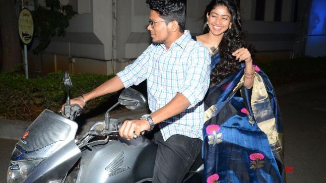 Sai Pallavi on her assistant's bike