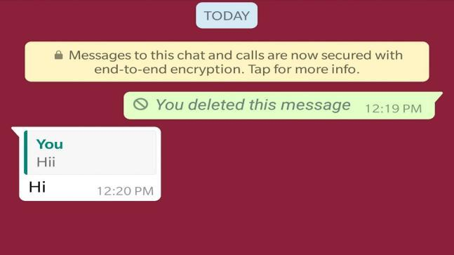 WhatsApp extends time limit to delete messages to 4096 seconds on Android
