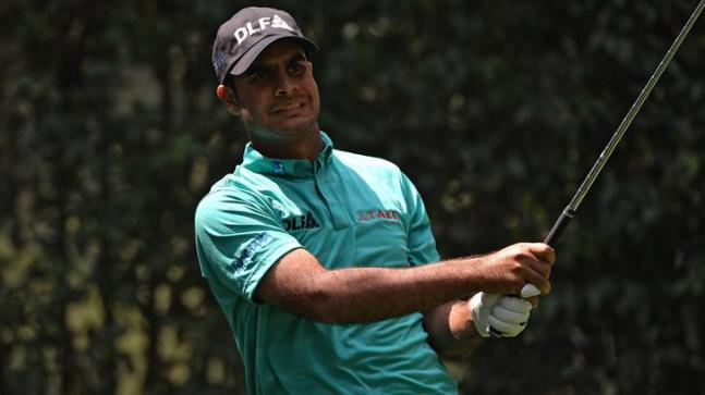 Shubhankar Sharma during the second round of the World Golf Championships (Reuters Photo)