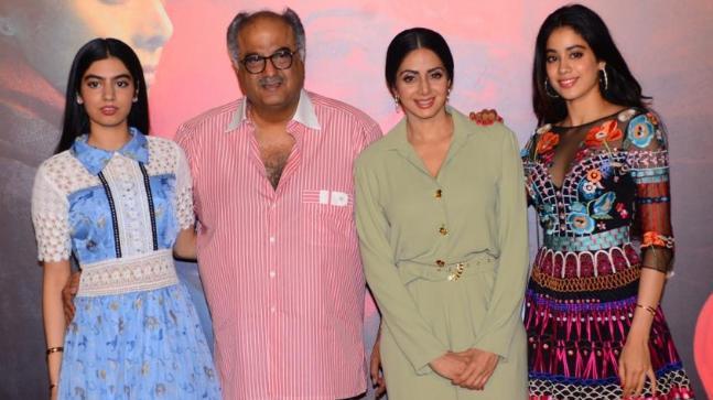 Khushi, Boney, Sridevi and Jhanvi Kapoor