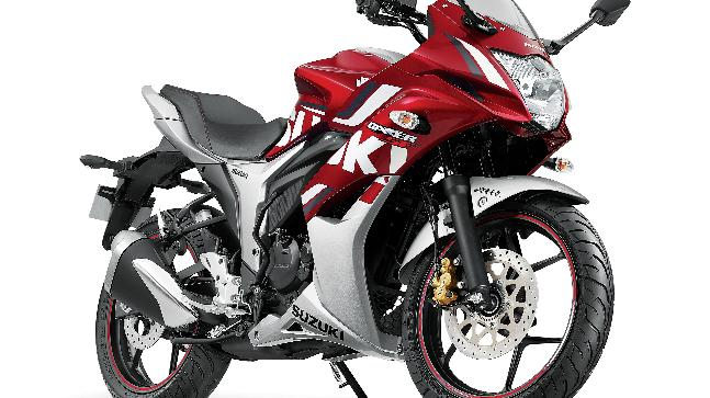 The 2018 Gixxer and Gixxer SF series motorcycles also feature an additional colour - Candy Sonoma Red/ Metallic Sonic Silver, besides the Glass Sparkle Black.