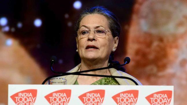 Sonia Gandhi speaking at India Today Conclave 2018 in Mumbai