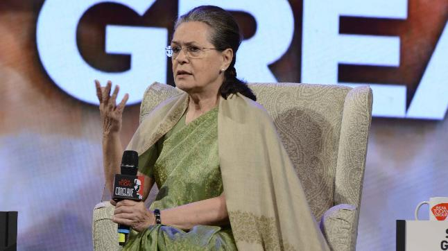 Sonia Gandhi at the India Today Conclave 2018.