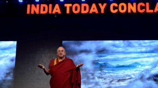 Matthieu Ricard at India Today Conclave 2018.