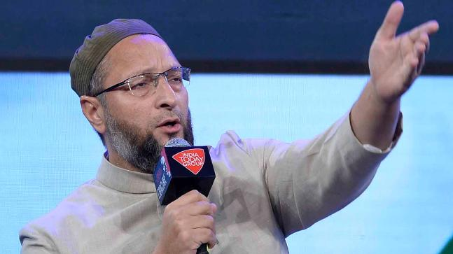 AIMIM chief Asaduddin Owaisi at the India Today Conclave 2018