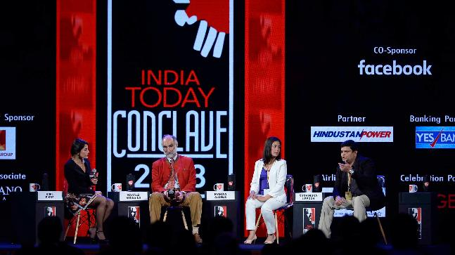 Dr. Harald Stossier, Dr Marian Alonzo, Dr Sudhindra Uppoor at India Today Conclave 2018.