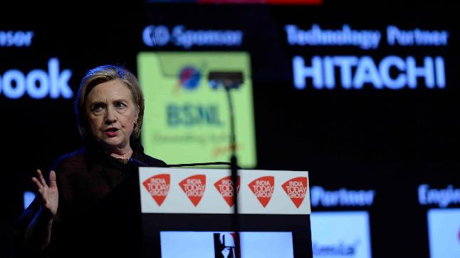 Hillary Clinton at the India Today Conclave 2018