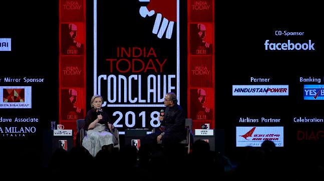 Hillary Rodham Clinton in conversation with Aroon Purie