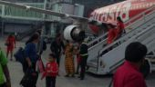 Around 90 Air Asia passengers who need to travel to Ranchi are in Kolkata this evening after their flight was diverted.