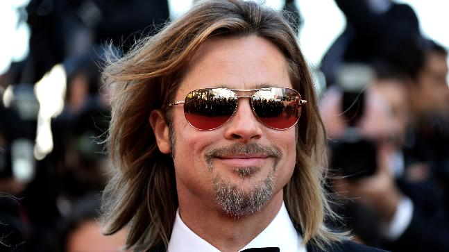 Brad Pitt in a 'french beard' (Reuters)