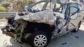 The crashed vehicle (Image: PTI)