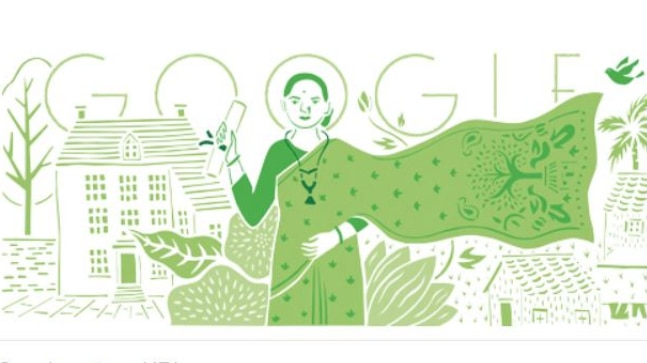 Google doodles on Anandi Gopal Joshi's birth anniversary