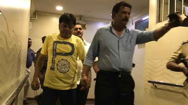 Dawood Ibrahim's brother Iqbal Kaskar (L) when he was arrested in Thane.