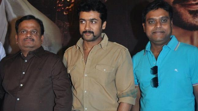 KV Anand, Suriya, and Harris