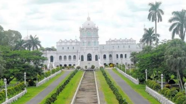 Ujjayanta Palace was built in 1898. Photo-Twitter: @INCIndia