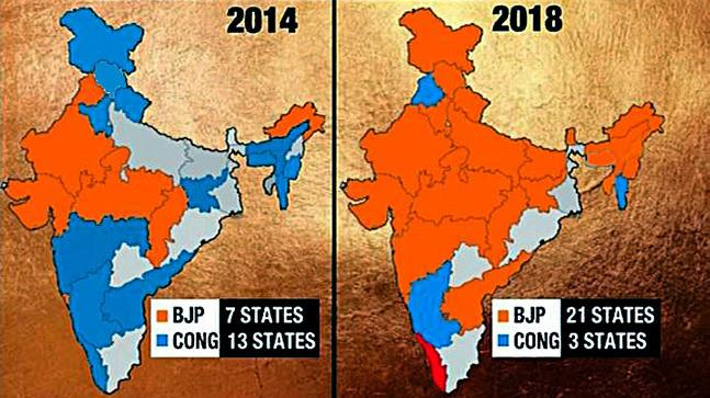 Saffron Saffron Everywhere How India S Political Map Changes After