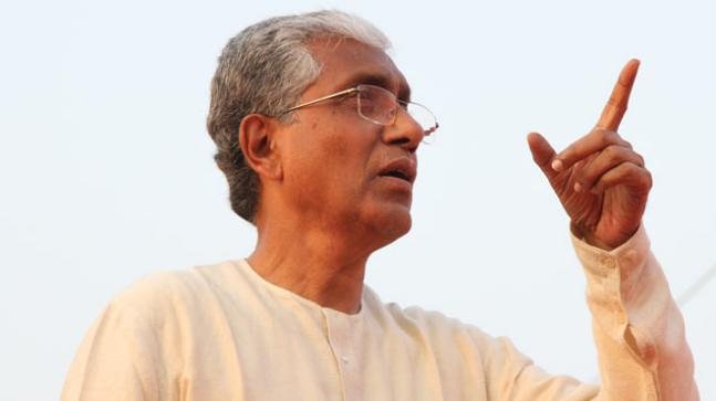 Tripura Chief Minister Manik Sarkar won by 5142 votes from Dhanpur constituency.