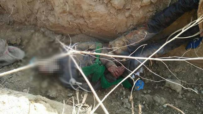 The body of Mohammad Shafi spotted by locals in Pulwama.
