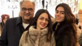 Khushi Kapoor and Boney attend Hichki screening, their first film outing after Sridevi's death