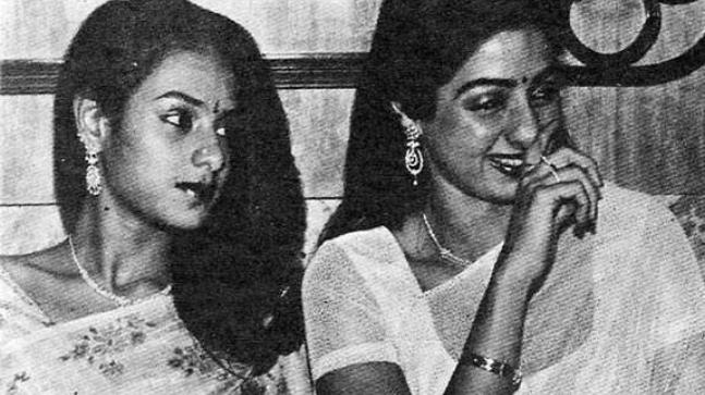 Srilatha (L) and Sridevi