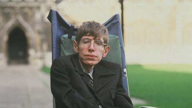 Stephen Hawking (Photo: Twitter/@LukeBarnett)