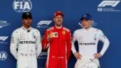 Sebastian Vettel, Lewis Hamilton and Valtteri Bottas (Photo: Reuters)