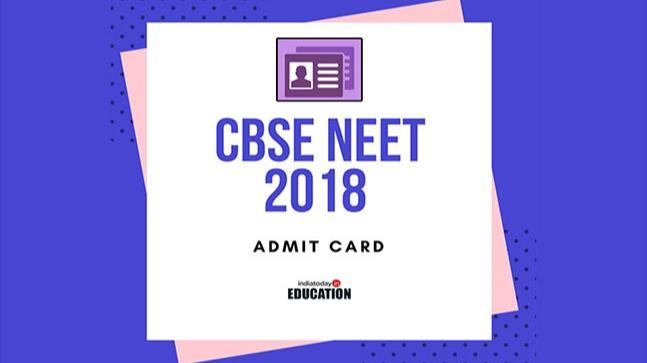 CBSE NEET Admit Card 2018 Hall Ticket Download @ cbseneet