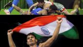 India's 1st wrestling gold bagged by Rahul Aware at Commonwealth Games after defeating his Canadian rival Steven Takahashi in the final of men's Freestyle 57 kg. (Photo/PTI & Reuters)
