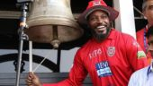 IPL 2018: 'Universe Boss' Chris Gayle rings the bell at Eden Gardens in his inimitable style