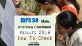 IBPS SO Main, Interview Combined Results 2018 out at ibps.in: How to check