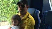 Ziva Dhoni and MS Dhoni
