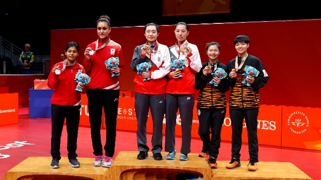 CWG'18 : Manika Batra strikes gold, Harmeet, Sanil take bronze in TT