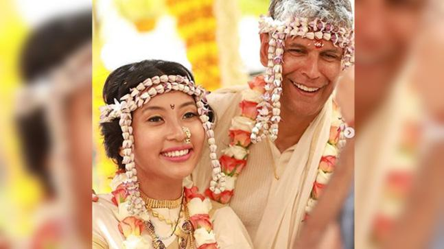 Milind Soman, Ankita Konwar exchange love notes on Instagram after wedding