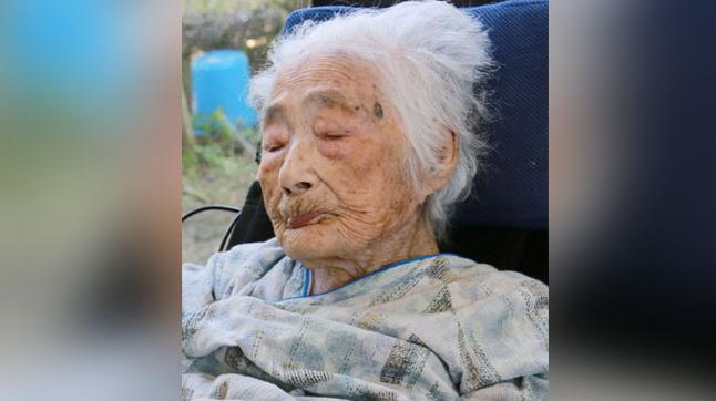 Tajima died of old age, at 117, in a hospital Saturday evening, April 21, 2018, in the town of Kikai in southern Japan. (Photo: AP)