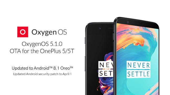 OnePlus 5T and 5 receive Android 8 1 Oreo update, 5T gets