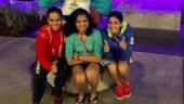 Saina Nehwal, Manika Batra dance at party after CWG Gold medals