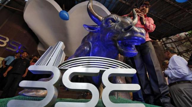 Sensex soars by 100 points