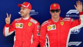 Chinese GP: Sebastian Vettel snatches pole position as Ferrari lock front grid