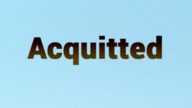What does the word acquitted mean?