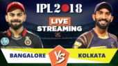 Cricket LIVE STREAMING IPL 2018, RCB vs KKR: When, where and how to watch? Jio TV, Hotstar, Airtel TV app
