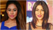 Sri Reddy (L) and Meesha Shafi