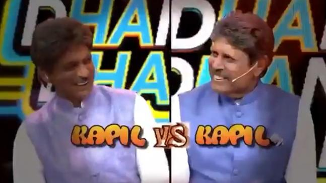 Sunil Grover and Kapil Dev