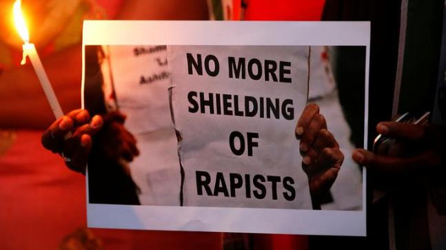 Massive protest in Delhi against Kathua, Unnao gangrapes