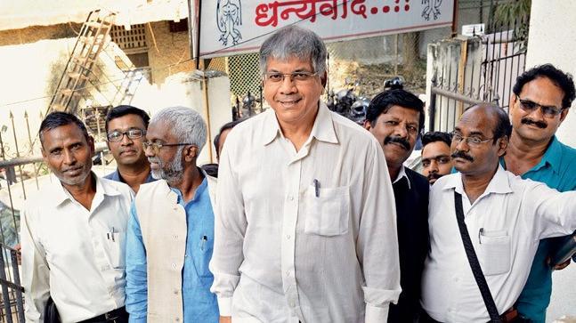 Prakash Ambedkar with his BBM comrades in Mumbai (Photo: MANDAR DEODHAR)