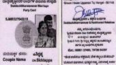The wedding invite Siddappa designed in the form of voter ID card