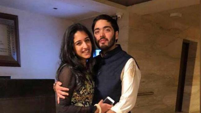 Anant Ambani with Radhika Merchant.
