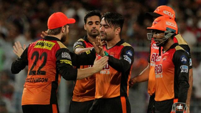 Rashid blasted 34 not out off 10 balls and picked up three wickets vs KKR (AP Photo)