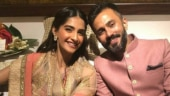 Sonam Kapoor and Anand Ahuja chose to colour-coordinate their outfits.