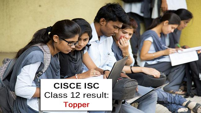 CISCE ISC class 12 result topper
