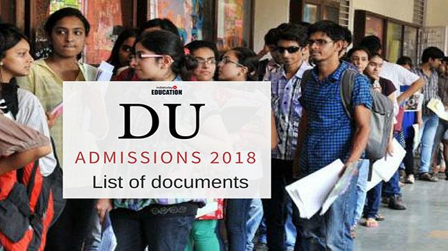 DU admissions 2018: Check the list of documents for online registration